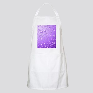 Metallic Purple Abstract Rain Drops Apron