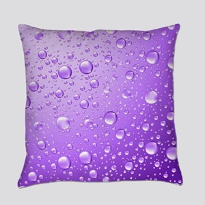 Metallic Purple Abstract Rain Drop Everyday Pillow
