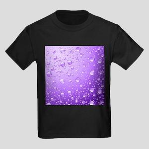 Metallic Purple Abstract Rain Drops T-Shirt