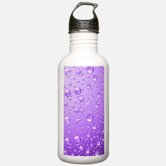 Metallic Purple Abstra Water Bottle