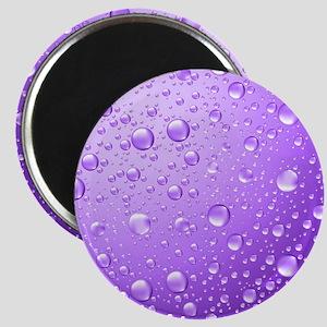 Metallic Purple Abstract Rain Drops Magnets