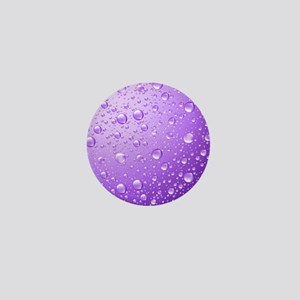 Metallic Purple Abstract Rain Drops Mini Button