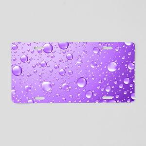 Metallic Purple Abstract Ra Aluminum License Plate