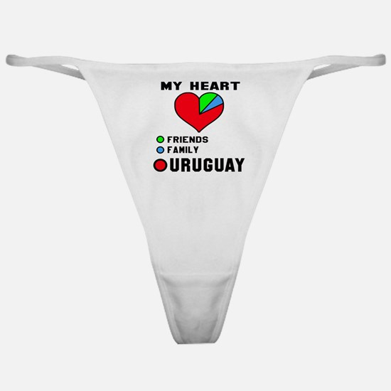 My Heart Friends, Family and Uruguay Classic Thong