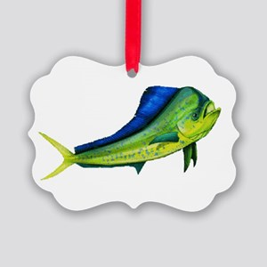 Bull Mahi Mahi Picture Ornament