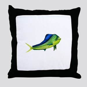 Bull Mahi Mahi Throw Pillow