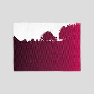 hot pink treeline 5'x7'Area Rug