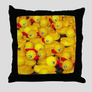 Cute yellow rubber duckies Throw Pillow