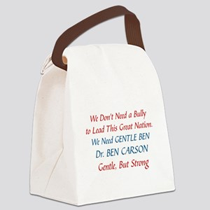 DR. BEN CARSON FOR PRESIDENT Canvas Lunch Bag