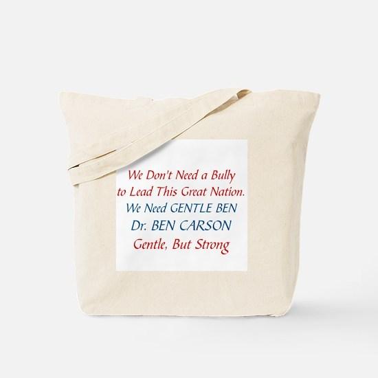 DR. BEN CARSON FOR PRESIDENT Tote Bag