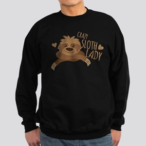 Crazy Sloth lady Jumper Sweatshirt