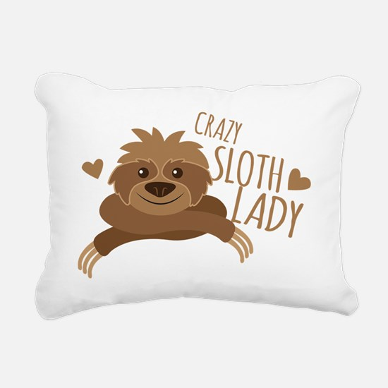 Crazy Sloth lady Rectangular Canvas Pillow
