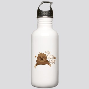 Crazy Sloth lady Stainless Water Bottle 1.0L