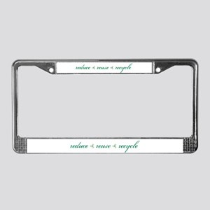 reduce.reuse.recycle License Plate Frame