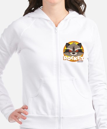 GOTG Animated Rocket Cute Fitted Hoodie