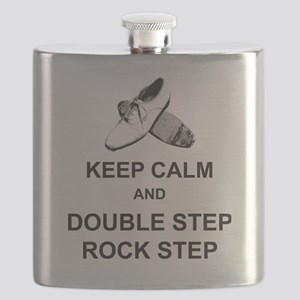 Keep Calm and Double Step Rock Step Flask