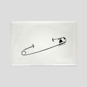 Punk Rock Pin Rectangle Magnet
