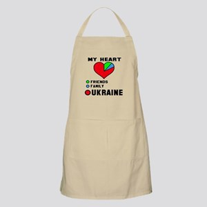 My Heart Friends, Family and Ukraine Light Apron