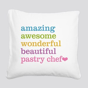 Amazing Pastry Chef Square Canvas Pillow