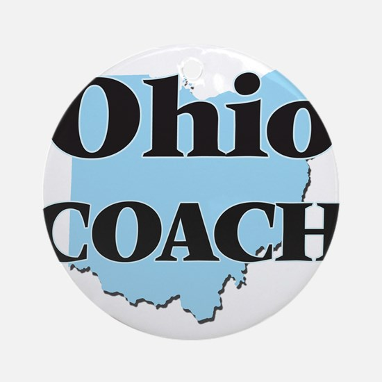 Ohio Coach Round Ornament