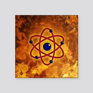 "Atom Square Sticker 3"" x 3"""