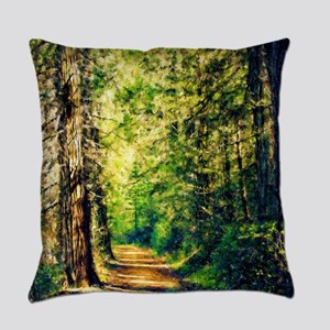 Sunlit Trail Everyday Pillow