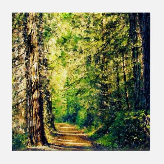 Sunlit Trail Tile Coaster
