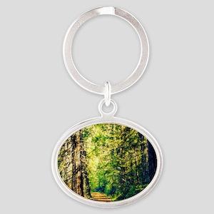 Sunlit Trail Oval Keychain