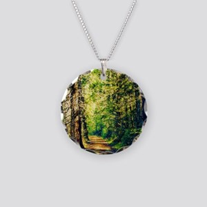 Sunlit Trail Necklace Circle Charm