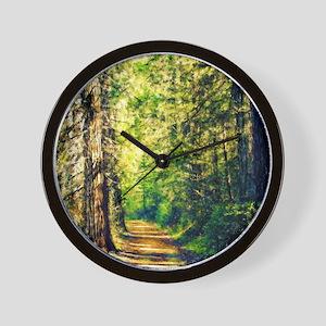 Sunlit Trail Wall Clock