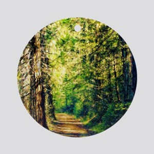 Sunlit Trail Round Ornament