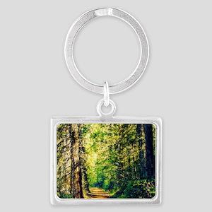 Sunlit Trail Landscape Keychain