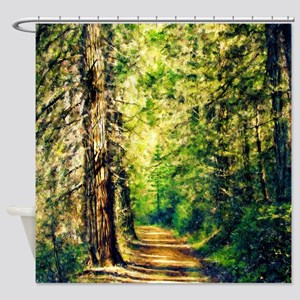 Sunlit Trail Shower Curtain