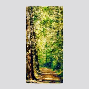 Sunlit Trail Beach Towel