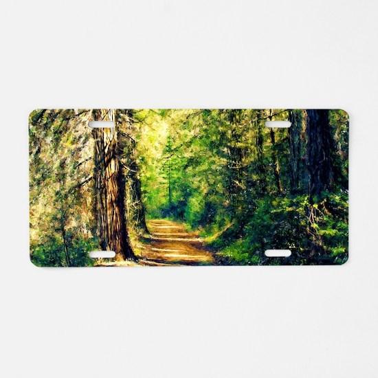 Sunlit Trail Aluminum License Plate