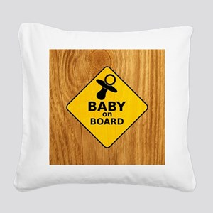 Baby on Board Square Canvas Pillow