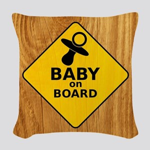 Baby on Board Woven Throw Pillow