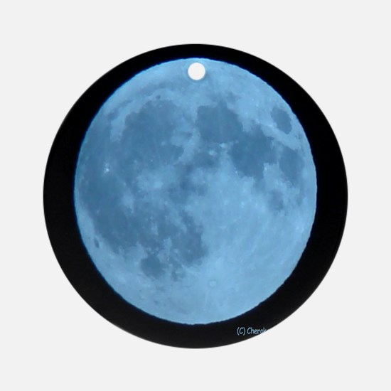 Once in a Blue Moon Ornament (Round)