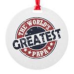 Worlds Greatest Papa Ornament