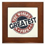 Worlds Greatest Papa Framed Tile
