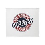 Worlds Greatest Papa Throw Blanket