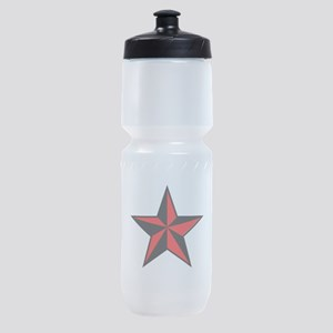 red and black star Sports Bottle