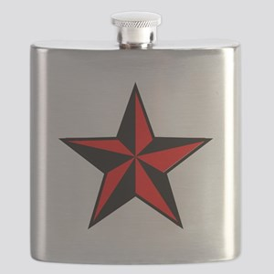 red and black star Flask