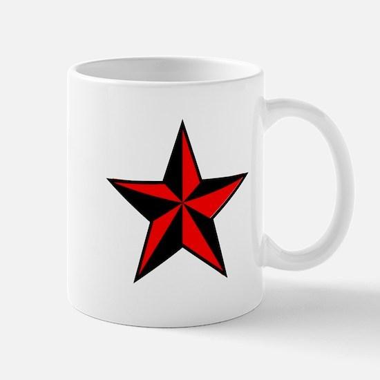 red and black star Mugs