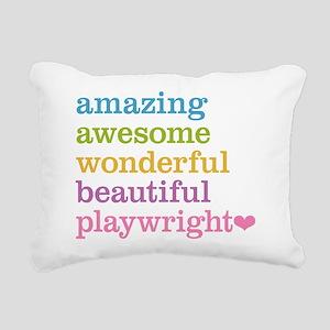 Amazing Playwright Rectangular Canvas Pillow