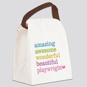 Amazing Playwright Canvas Lunch Bag