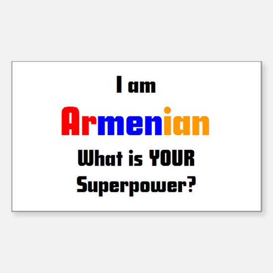 i am armenian Sticker (Rectangle)