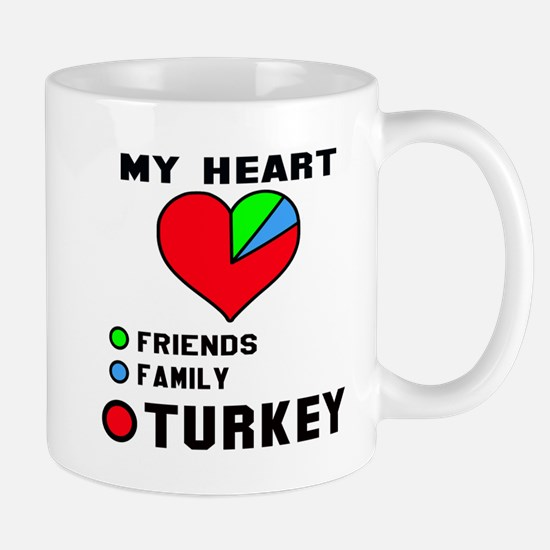 My Heart Friends, Family and Tur Mug