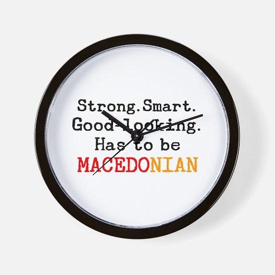 be macedonian Wall Clock