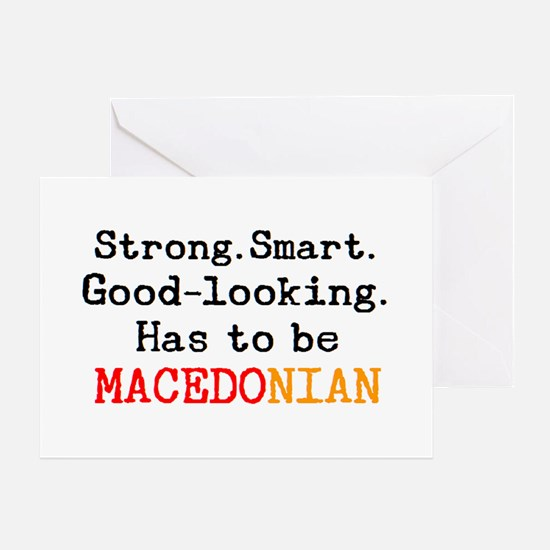 be macedonian Greeting Card